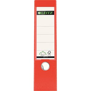 Leitz 180° Lever Arch File Plastic, light red LEITZ 10105020