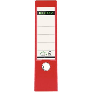 Leitz 180° Lever Arch File Plastic, red LEITZ 10105025