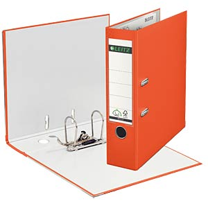 Leitz 180° Lever Arch File Plastic, orange LEITZ 10105045