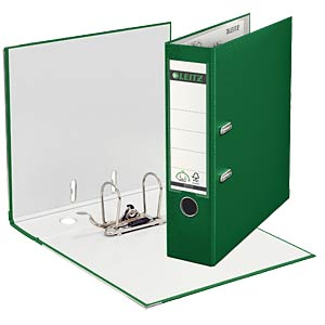 Leitz 180° Lever Arch File Plastic, green LEITZ 10105055