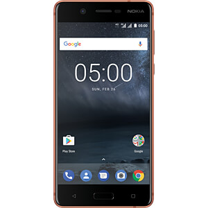 "Smartphone, 13,20 cm (5,2"") IPS-LCD, 16GB, kupfer NOKIA 11ND1M01A01"