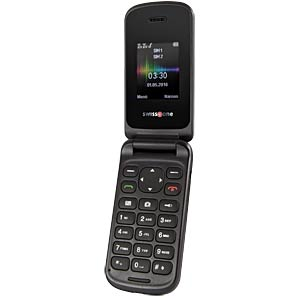 Mobiltelefon, Klapphandy, Dual-SIM, weiß SWISSTONE 450035