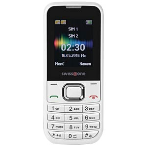 Mobile phone, dual SIM, white SWISSTONE 450039