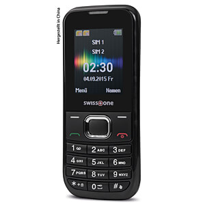 Mobile phone, dual SIM, black SWISSTONE 450032