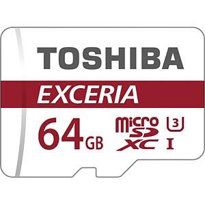 MicroSDXC-Speicherkarte 64GB - Toshiba UHS-1 (U3) TOSHIBA THN-M302R0640EA