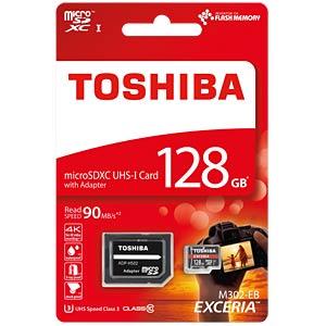 MicroSDXC-Card 128GB - Toshiba UHS-1 (U3) TOSHIBA THN-M302R1280EA