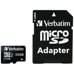 MicroSDHC-Speicherkarte 32GB - Verbatim - Class 10 VERBATIM 44083