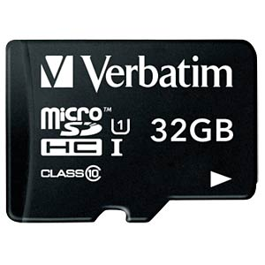MicroSDHC-Card 32GB - Verbatim - Class 10 VERBATIM 44083