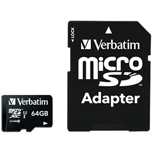 MicroSDXC-Card 64GB - Verbatim - Class 10 VERBATIM 44084