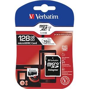 MicroSDXC-Card 128GB - Verbatim - Class 10 VERBATIM 44085