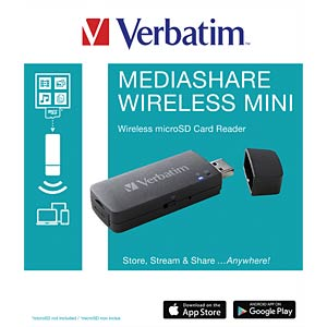Wireless streaming device for microSDHC/XC VERBATIM 49160