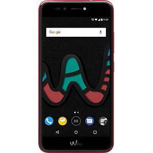 Smartphone, 13,2 cm (5,2), Dual-SIM, cherry rot WIKOMOBILE WIKUPULIT4GREDST