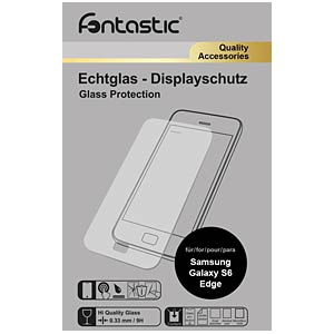 Schutzglas, 1 Stück, für Samsung Galaxy S6 Edge FONTASTIC 183652
