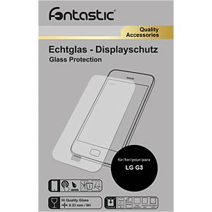 Schutzglas, 1 Stück, für LG G3 FONTASTIC 410291