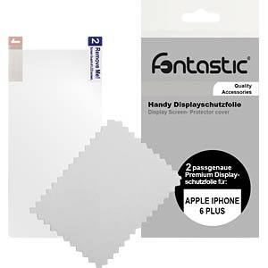 Schutzfolie, 2 Stück, für Apple iPhone 6+/6s+ FONTASTIC 438639