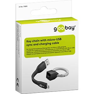 micro-USB sync and charging cable GOOBAY 71810