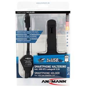 Kfz Halterung, universal, für Smartphone, Ladegerät ANSMANN 1000-0012