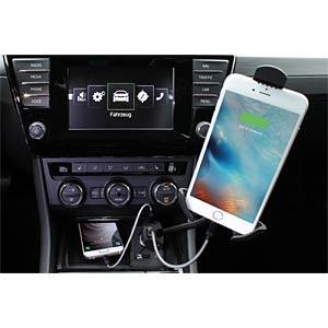 Autolader 5.5A met smartphonehouder ANSMANN 1000-0012
