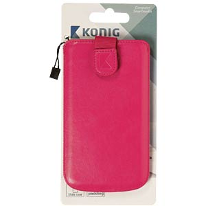 Slide case, pink (122 x 64 x 10 mm) KÖNIG CSSCLPI