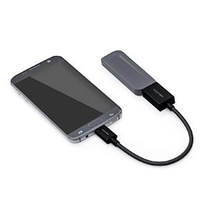 USB 2.0 Adapter Mirco-B Stecker > A-Buchse, schwarz, 0,10 m DELEYCON MK-MK2326