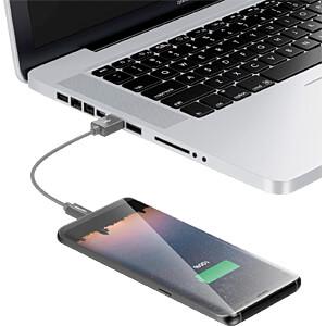 Daten-/ Ladekabel USB A-Stecker > Micro-B Stecker grau 0,15 m DELEYCON MK-MK2327