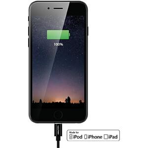 Daten-/ Ladekabel  USB A-Stecker > Lightning schwarz 1 m DELEYCON MK-MK2344
