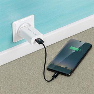 Daten-/ Ladekabel  USB A-Stecker > Type-C schwarz 0,15 m DELEYCON MK-MK2362