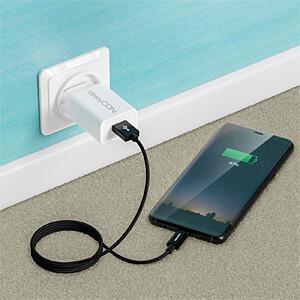 Daten-/ Ladekabel  USB A-Stecker > Type-C schwarz 0,5 m DELEYCON MK-MK2363