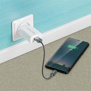 Daten-/ Ladekabel  USB A-Stecker > Type-C grau 0,15 m DELEYCON MK-MK2367