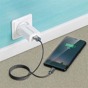 Daten-/ Ladekabel  USB A-Stecker > Type-C grau 0,5 m DELEYCON MK-MK2368
