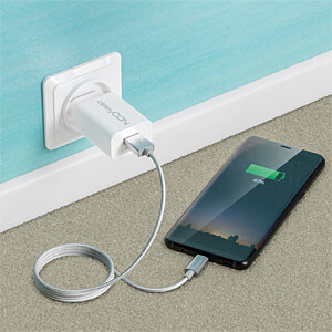 Daten-/ Ladekabel  USB A-Stecker > Type-C silber 1 m DELEYCON MK-MK2374