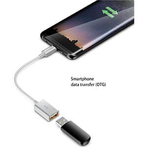 USB 2.0 Adapter Type-C Stecker > A-Buchse, silber, 0,10m DELEYCON MK-MK2376