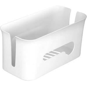 Kabelmanagement Box mit Aufbewahrungsfach weiß / grau DELOCK 18290