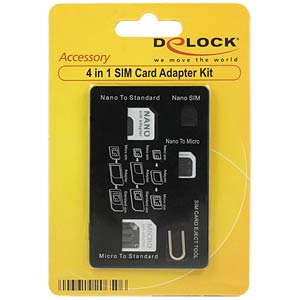 SIM Karten Adapter, 4in1 DELOCK 20650