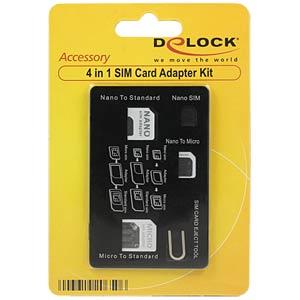 Delock 4 in 1 SIM Card Adapter Kit DELOCK 20650