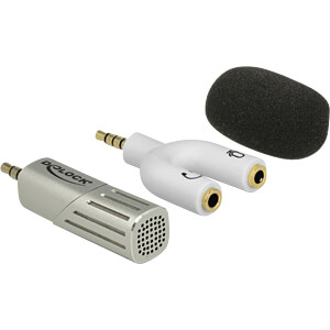 Microfoon voor Smartphone-Tablet jackaansluiting 3,5 mm wit DELOCK 65893
