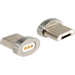 Magnetischer Adapter Micro-B Stecker für Ladekabel DELOCK 65929