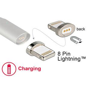 Magnetischer Adapter 8 Pin Lightning Stecker für Ladekabel DELOCK 65928