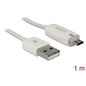 Sync- & Ladekabel, USB-A -> Micro B Stecker, 1 m DELOCK 83604