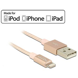 USB-aansluitkabel voor iPod, iPhone, iPad DELOCK 83875