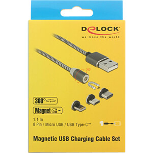 Magnetic USB Charging Cable Set DELOCK 84948