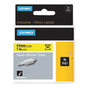 DYMO IND heat-shrink tubing 24 mm black/yellow DYMO 1805444