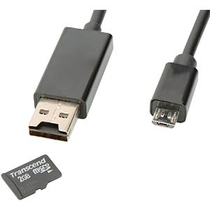 OTG USB Data/Charging Cable / microSD Slot EDNET 31517