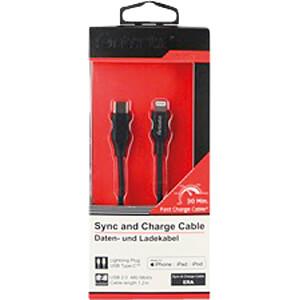 Sync- & Ladekabel, USB Type-C -> Lightning, 1,2 m FONTASTIC 462009