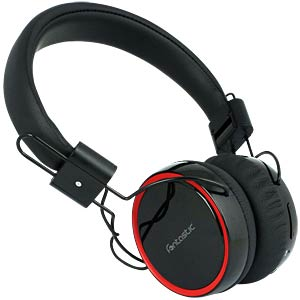 Headset, Over Ear, Bluetooth, schwarz/rot FONTASTIC 237713