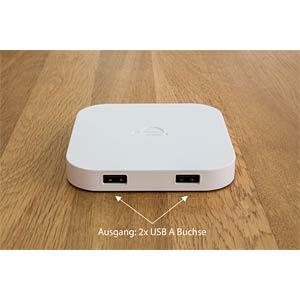 Wireless Smartphone Ladegerät, 2-port, weiß GOOD CONNECTIONS GC-M3006W