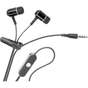 Headset, In Ear, schwarz/silber GOOBAY 42283