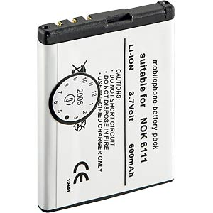 650mAh Li-ion for NOKIA 6111/7370 FREI