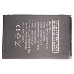 750 mAh Li-ion for Nokia 5100/6100/6300 FREI