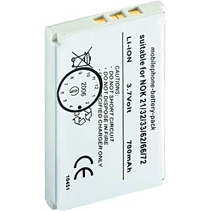 700 mAh Li-ion for Nokia 2100/ 3200/ 3300 ... FREI